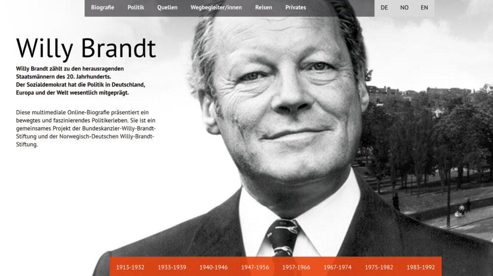 Willy Brandt Friedrich Ebert Stiftung Portal