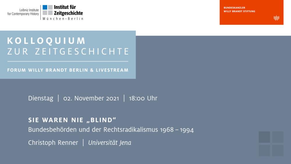 IFZ_Kolloquium zur Zeitgeschichte_2.11. Christoph Renner