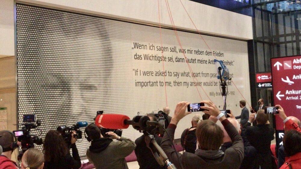 Enthüllung Willy-Brandt-Gedenkwand