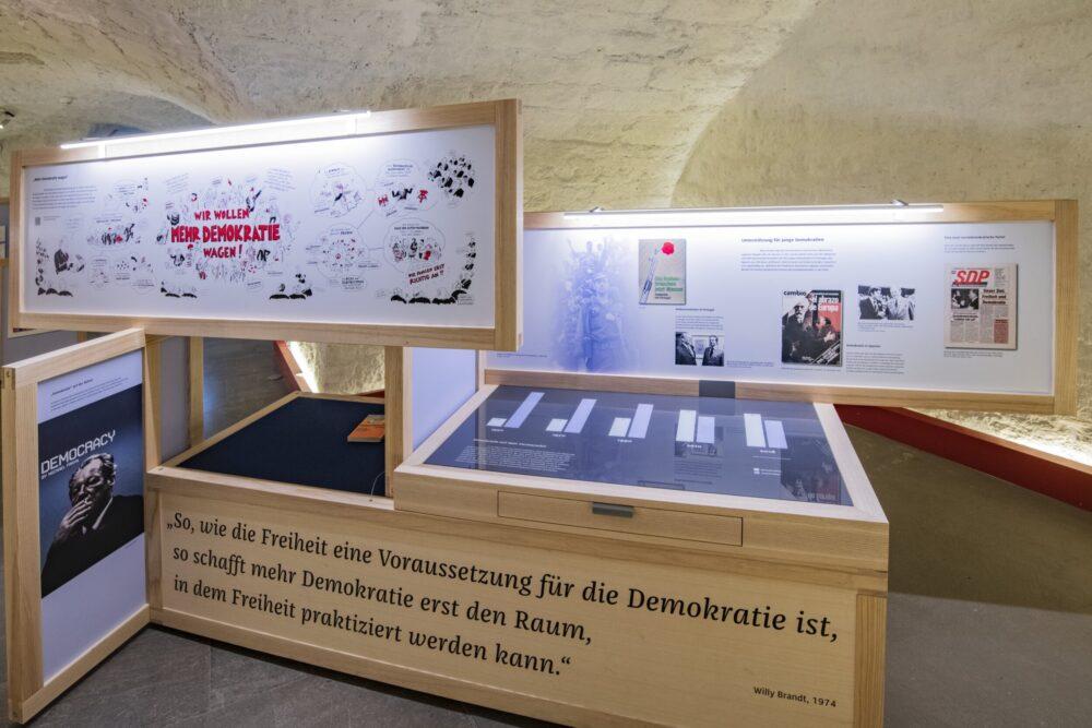 Ausstellungsmodul der nationalen Wanderausstellung