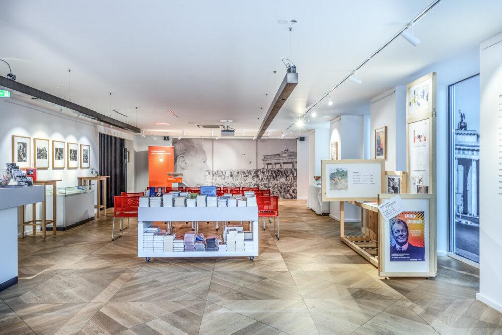 Forum Willy Brandt Berlin Innenbereich und Ausstellungsfläche