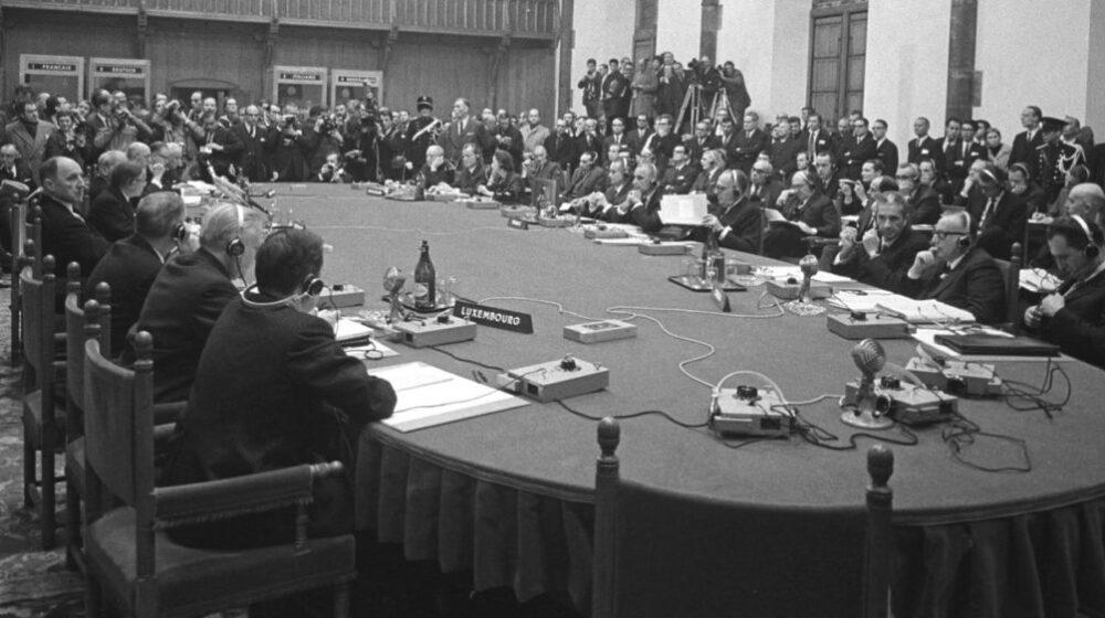 Gipfelkonferenz der Europäischen Gemeinschaften in Den Haag am 1. Dezember 1969. © Bundesregierung/Engelbert Reineke